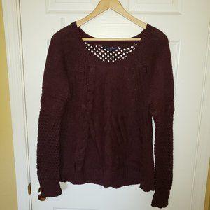 NEW - American Eagle Purple Knit Sweater